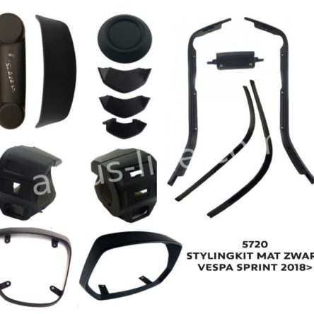 Omlijsting set Mat Zwart Vespa Sprint 2018>